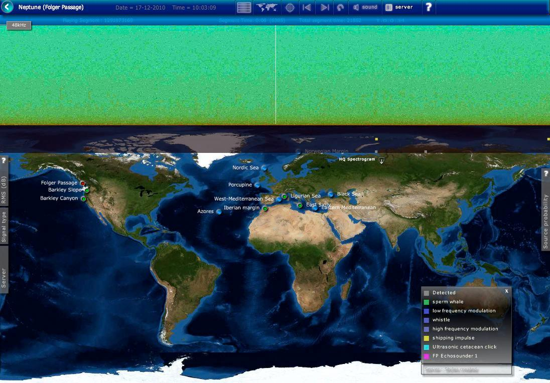 The LIDO website lets users listen to undersea sites around the world
