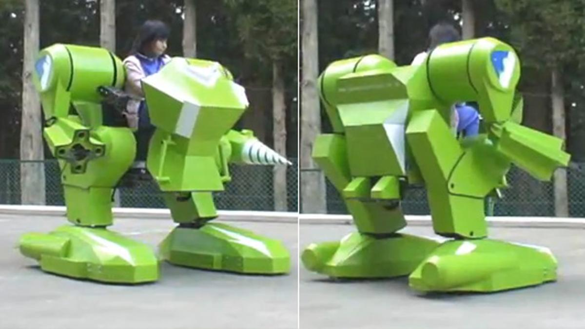 The Kidswalker NT is a new and improved version of Sakakibara-Kikai's gasoline-powered robot ride