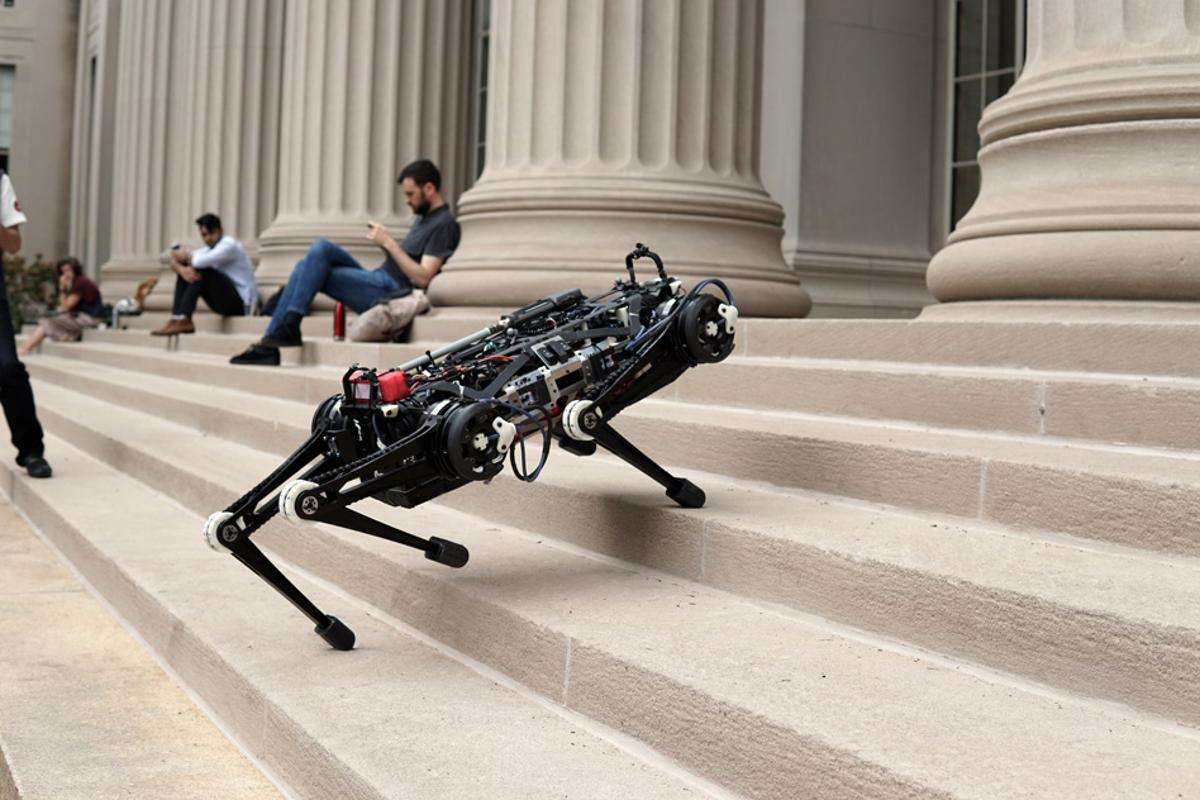 MIT's Cheetah 3 robot can climb stairs and step over obstacles without the help of cameras or visual sensors