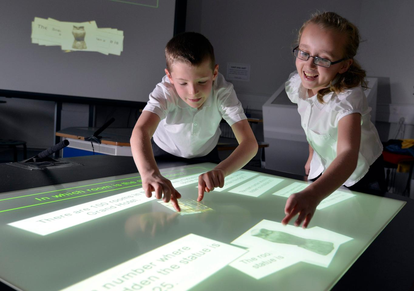 It was found that 45 percent of the students using the desks increased the number of unique mathematical expressions they created since the beginning of the project, while only 16 percent of students working on traditional paper saw the same sort of increase
