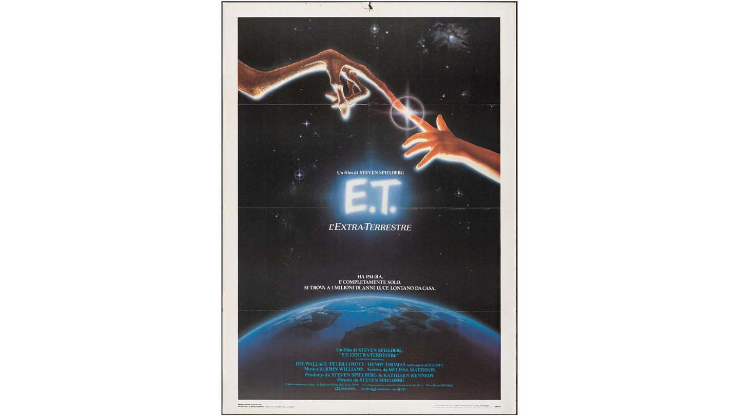 """Italian film poster for E.T. The Extra-Terrestrial (1982) (39"""" X 55"""") 