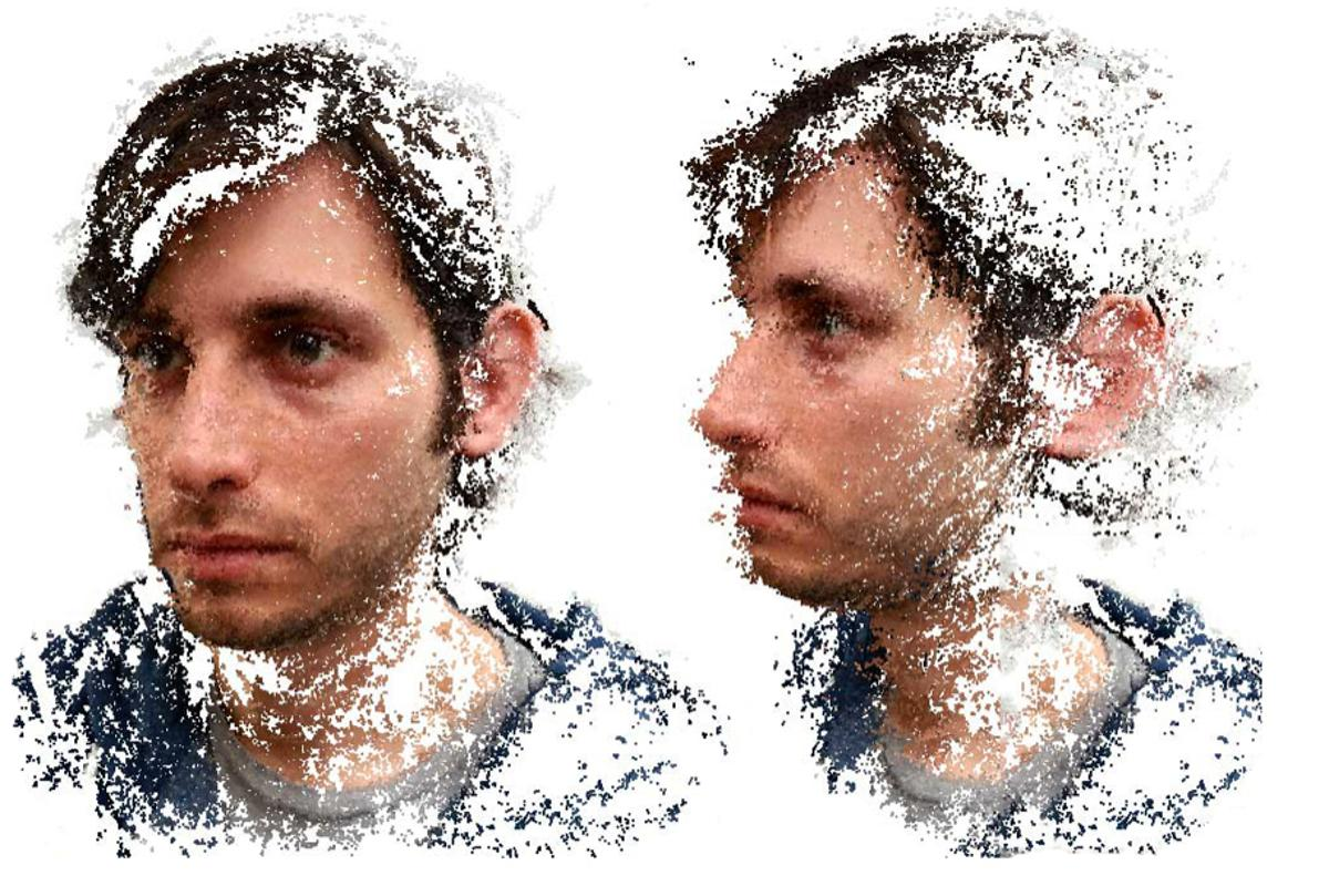 The app can be used to produce 3D portraits
