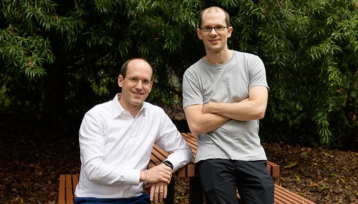 Brothers and dementia researchers Lars (left) and Arne Ittner at Macquarie University