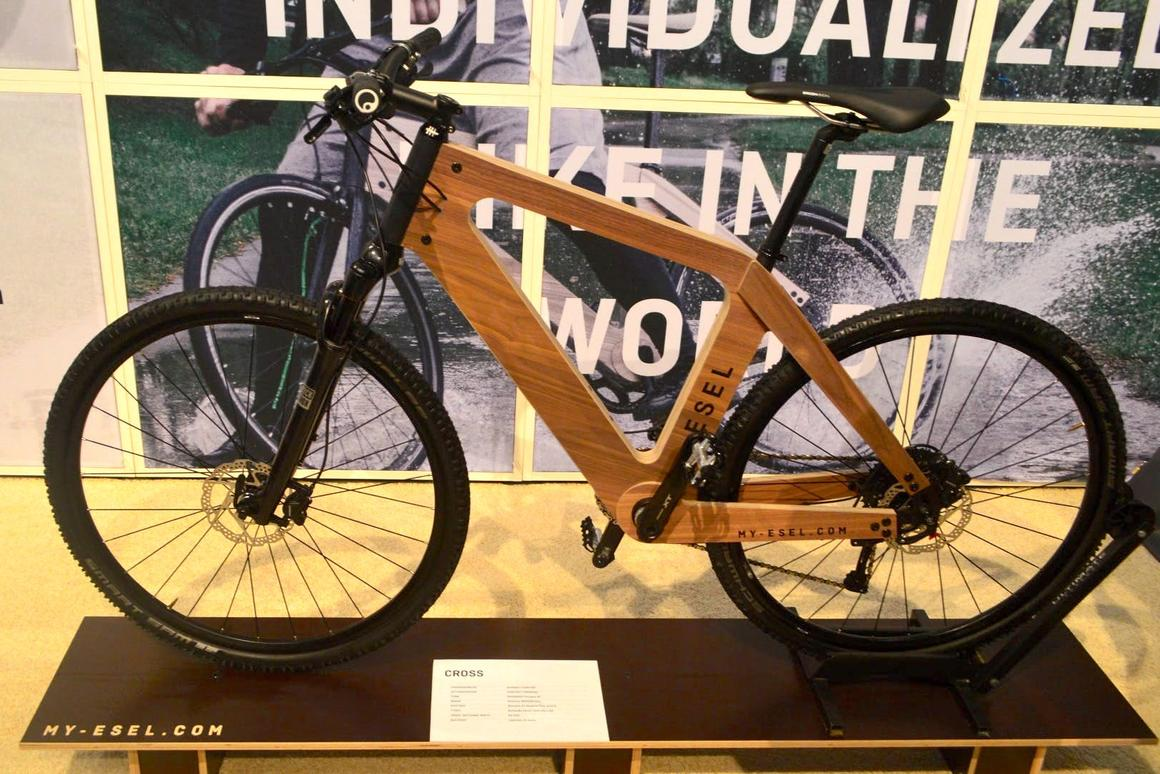 The My Esel Cross bike, on display at ISPO 2018