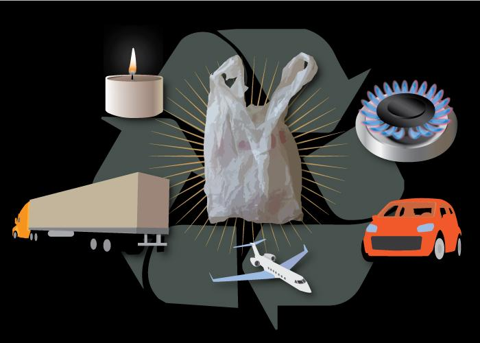 Used plastic shopping bags can be converted into petroleum products that serve a multitude of purposes (Image: Julie McMahon)