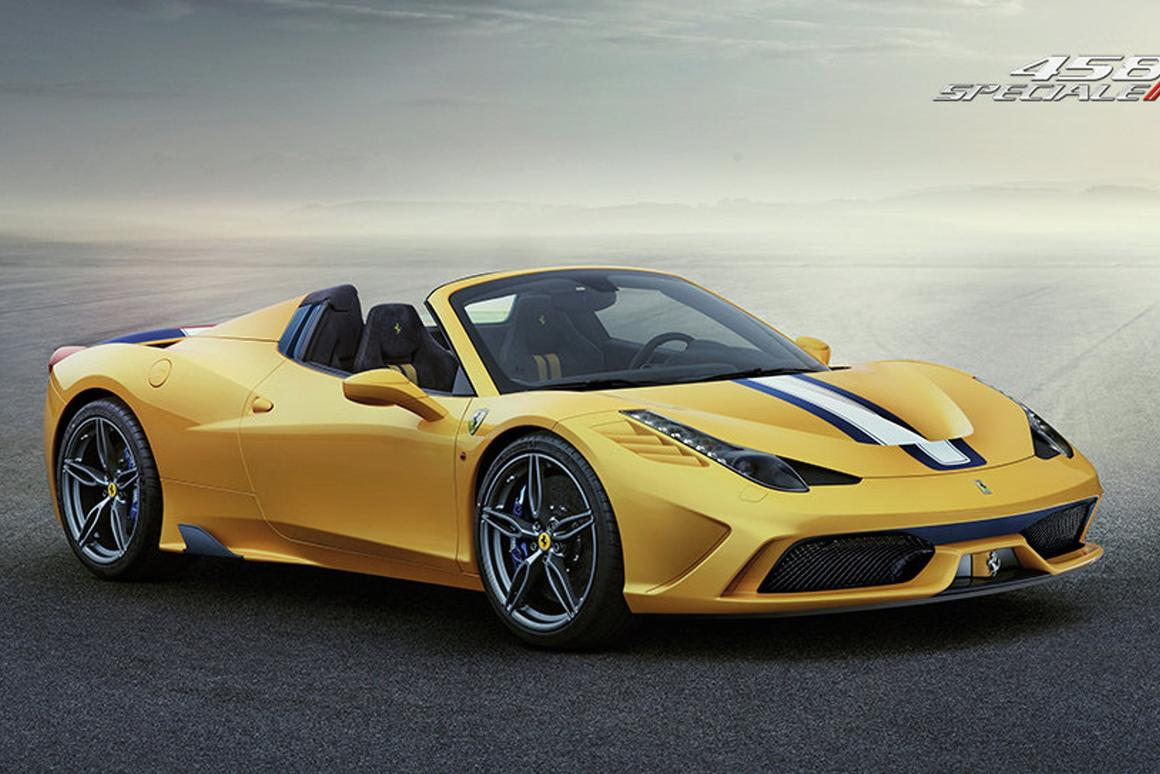 The 458 Speciale A will make its debut at the Paris Motor Show next month