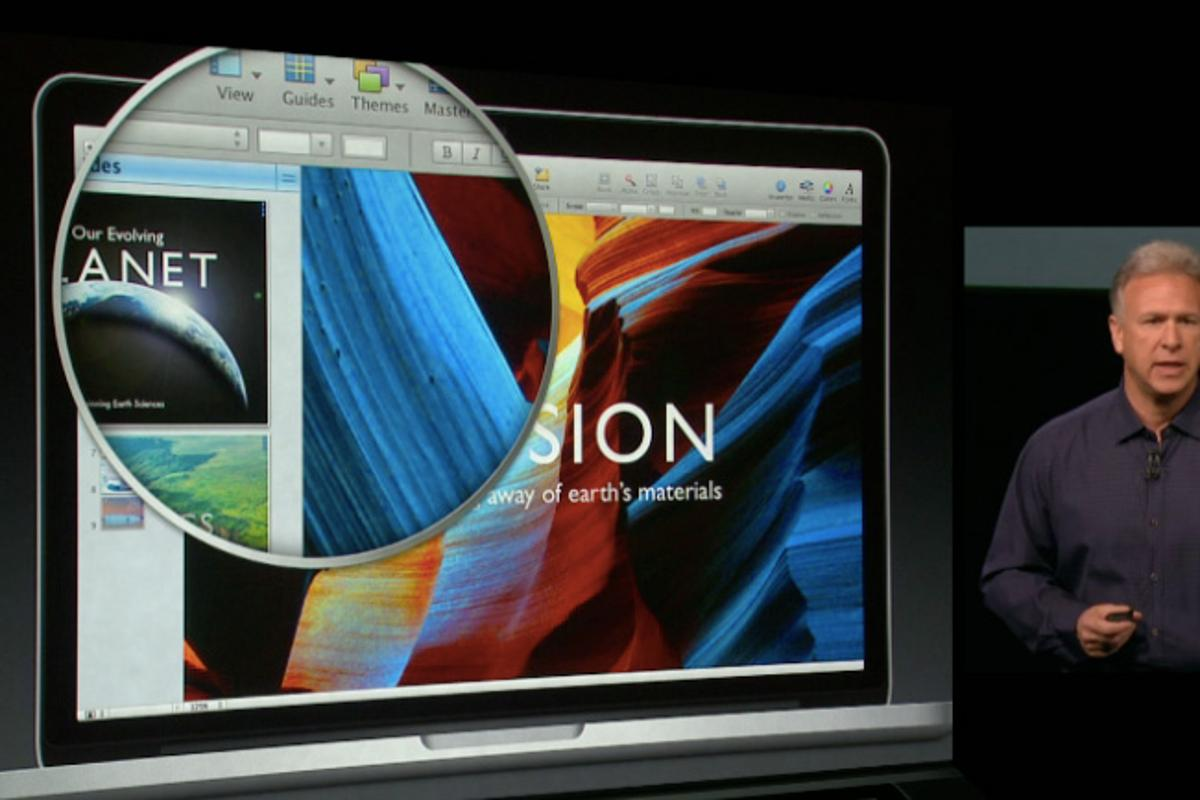 The 2560 x 1600 display has 227 pixels per inch