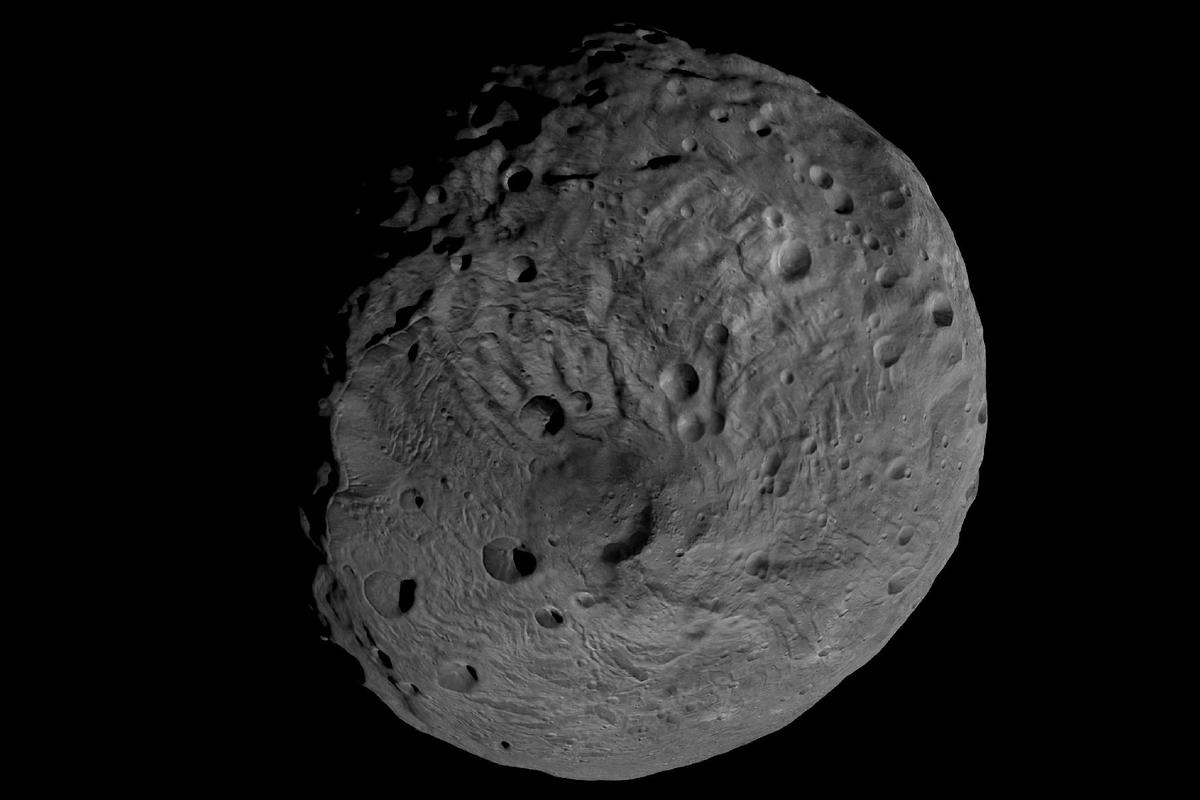 Image showing the south pole of the giant asteroid Vesta obtained by the framing camera on NASA's Dawn spacecraft (Image: NASA/JPL-Caltech/UCLA/MPS/DLR/IDA)