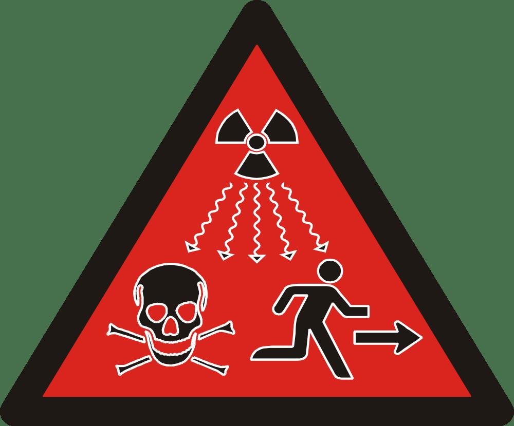 The latest radioactive danger symbol illustrates the hazards of ionizing radiation