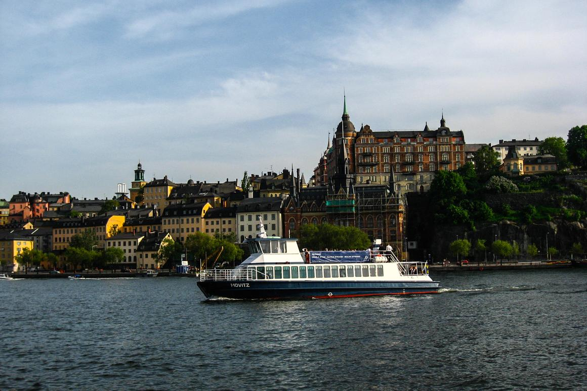 """Sweden's Movitz ferry, the first """"supercharged"""" electric passenger ferry, debuts in August."""