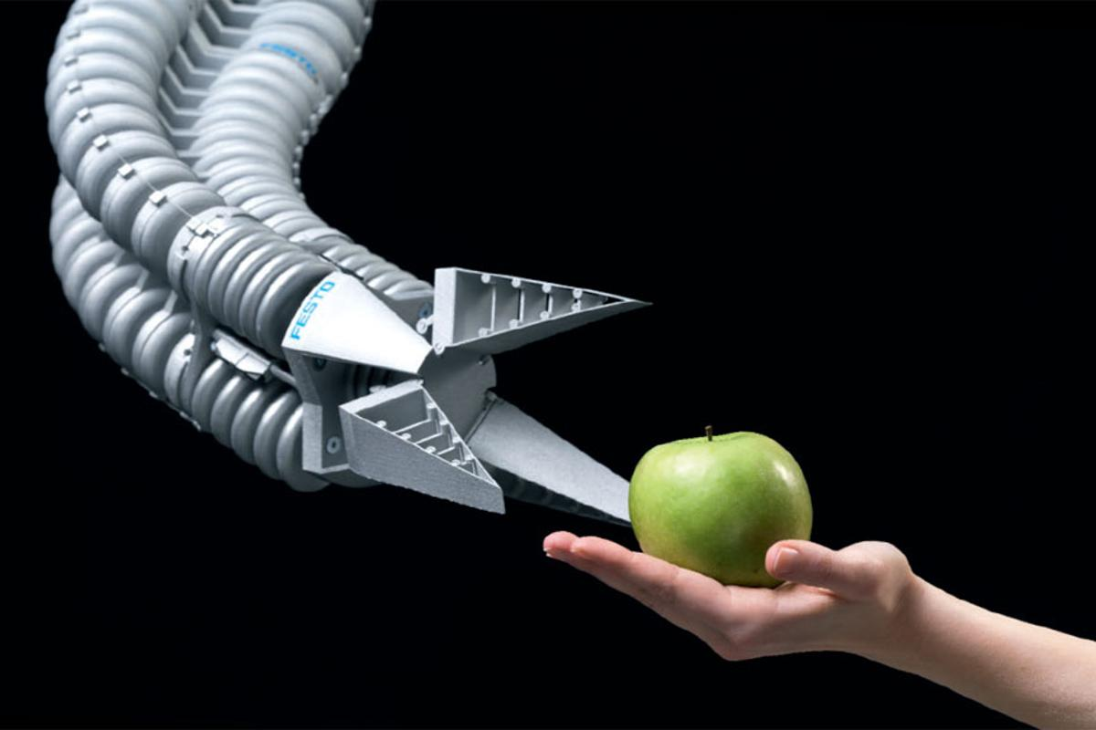 Bionic Handling Assistant is inspired by the elephants trunk (Image: Festo)