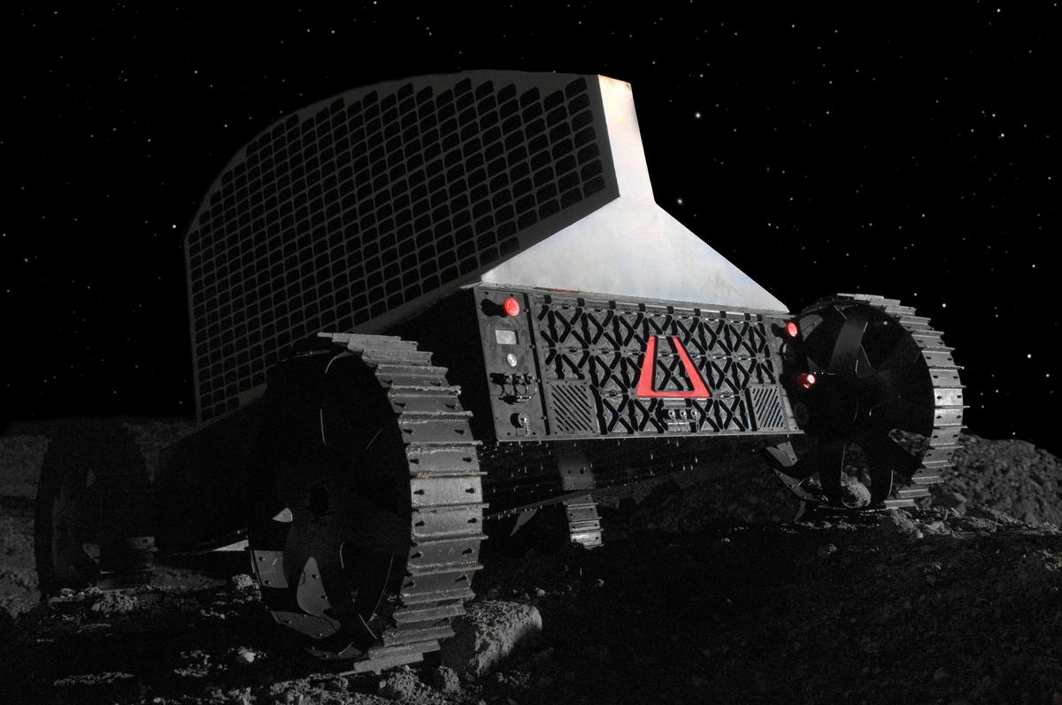 The Polaris lunar water prospecting robot prototyple