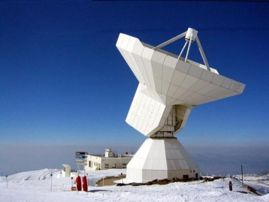 the IRAM 30-m telescope on Pico Veleta in the south of Spain