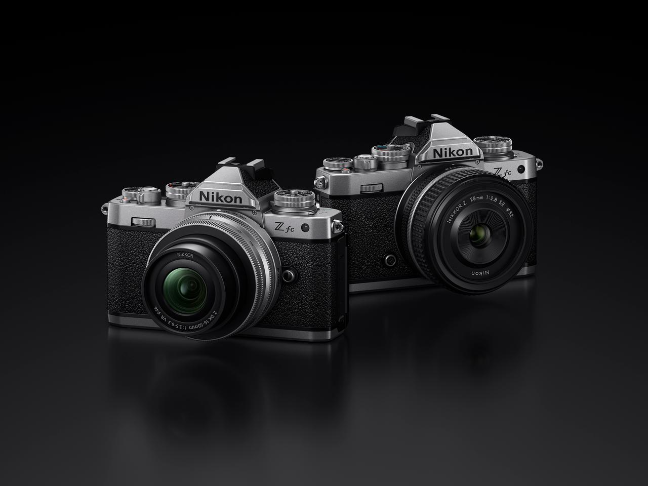 The design of the Z fc DX-format mirrorless camera was inspired by Nikon's interchangeable lens, 35-mm film, single-lens reflex camera