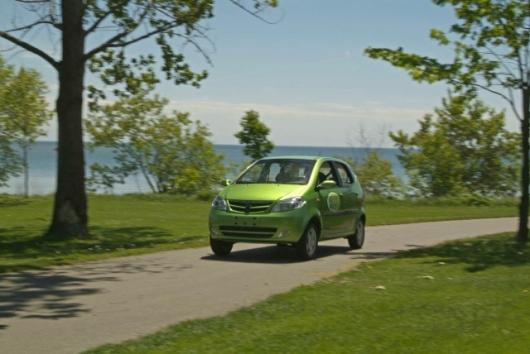 The Maya 300 electric car offers the features of a regular car in a vehicle with zero emissions