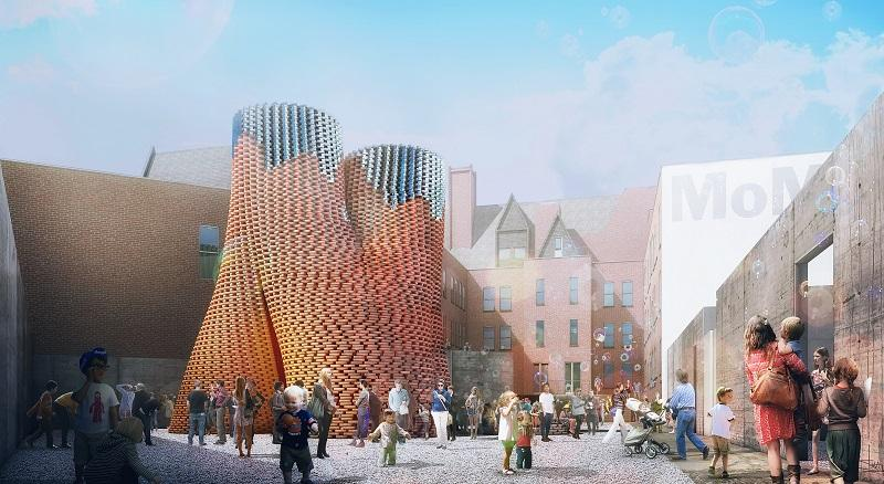 A tower made of organic bricks has won the Young Architects Program 2014