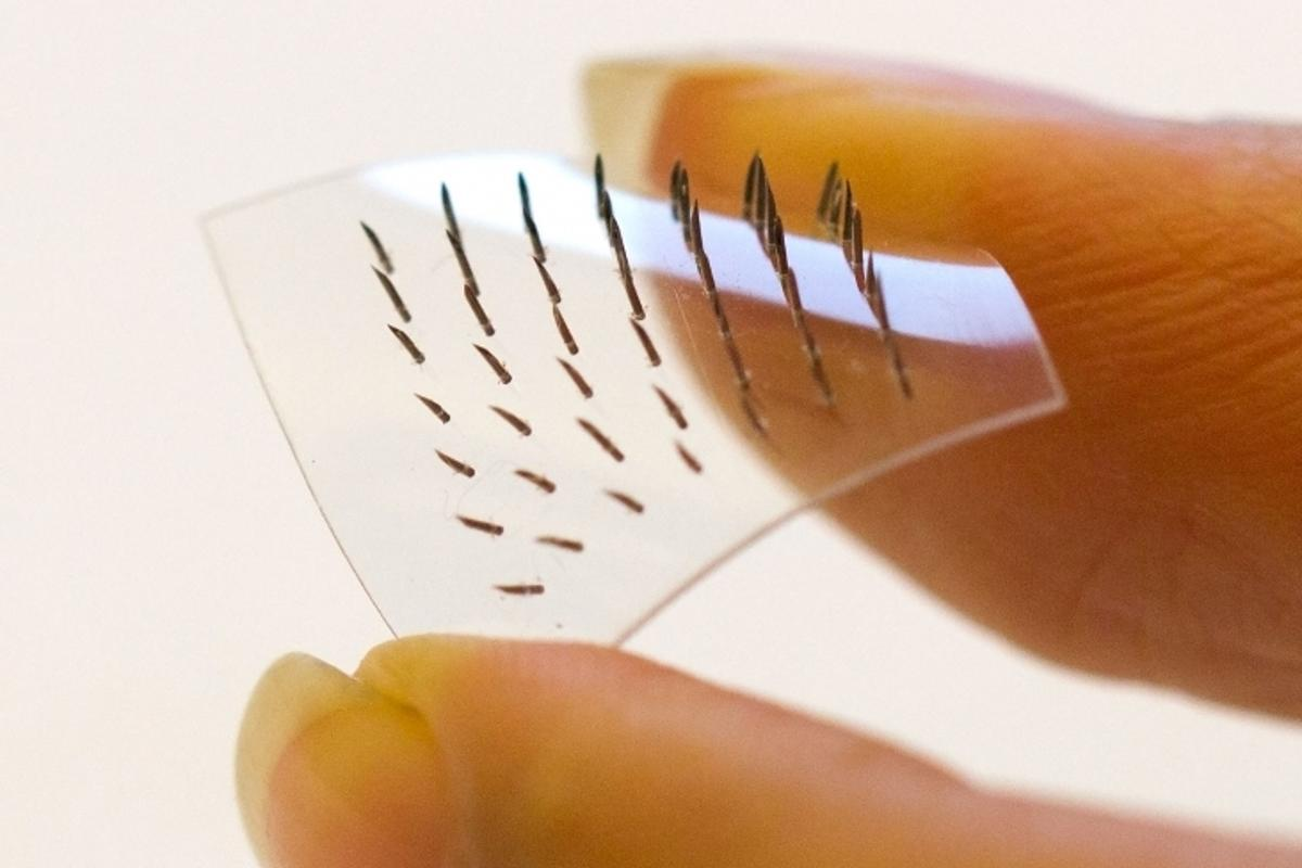 The team says this is the first time these materials have been scientifically tested in a microneedle array