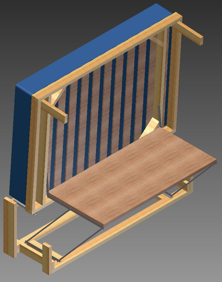 Graham Phakos first designed his UrbanDesk combined bed and desk using AutoDesk Inventor