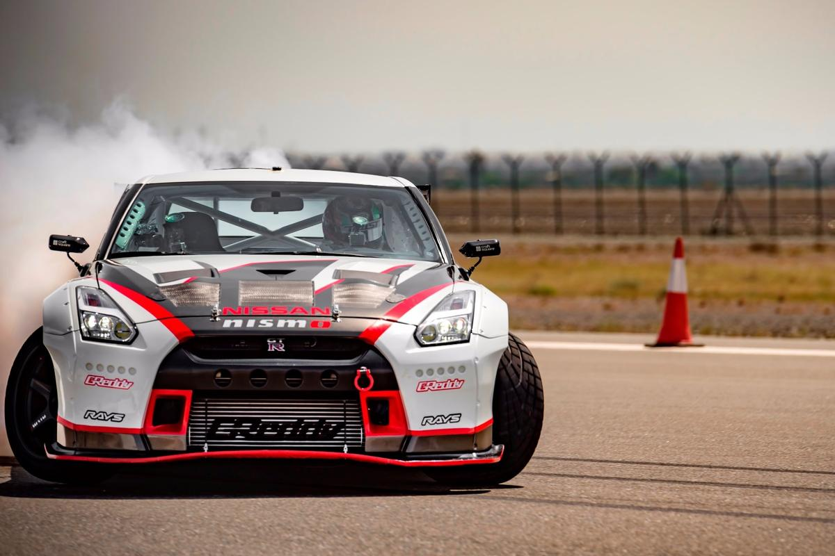 Nissan set a new record for the fastest drift, getting a GT-R sideways at 304.96 km/h