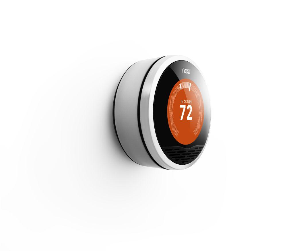 The Nest Learning Thermostat comes with a 320 x 320 resolution 1.75-inch display with 24 bit color