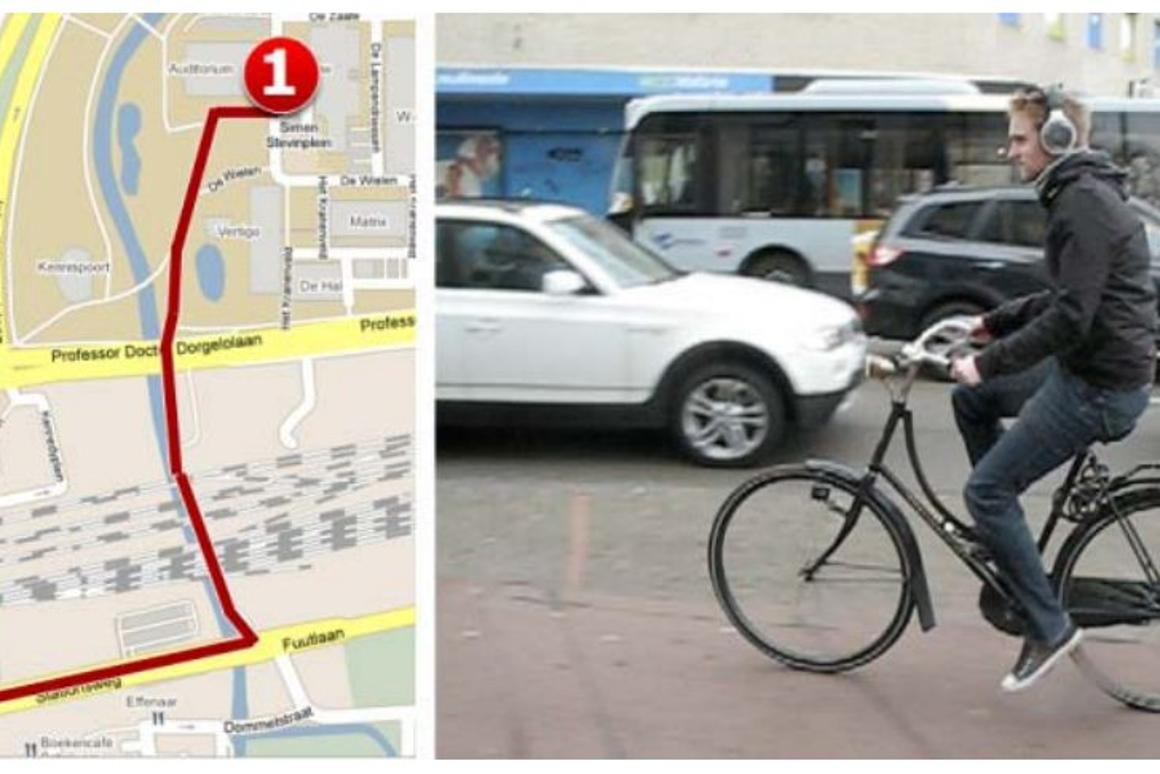 A research team from the Netherlands has developed a GPS navigation system for cyclists which artificially shifts music to the left or right to guide users to a chosen destination