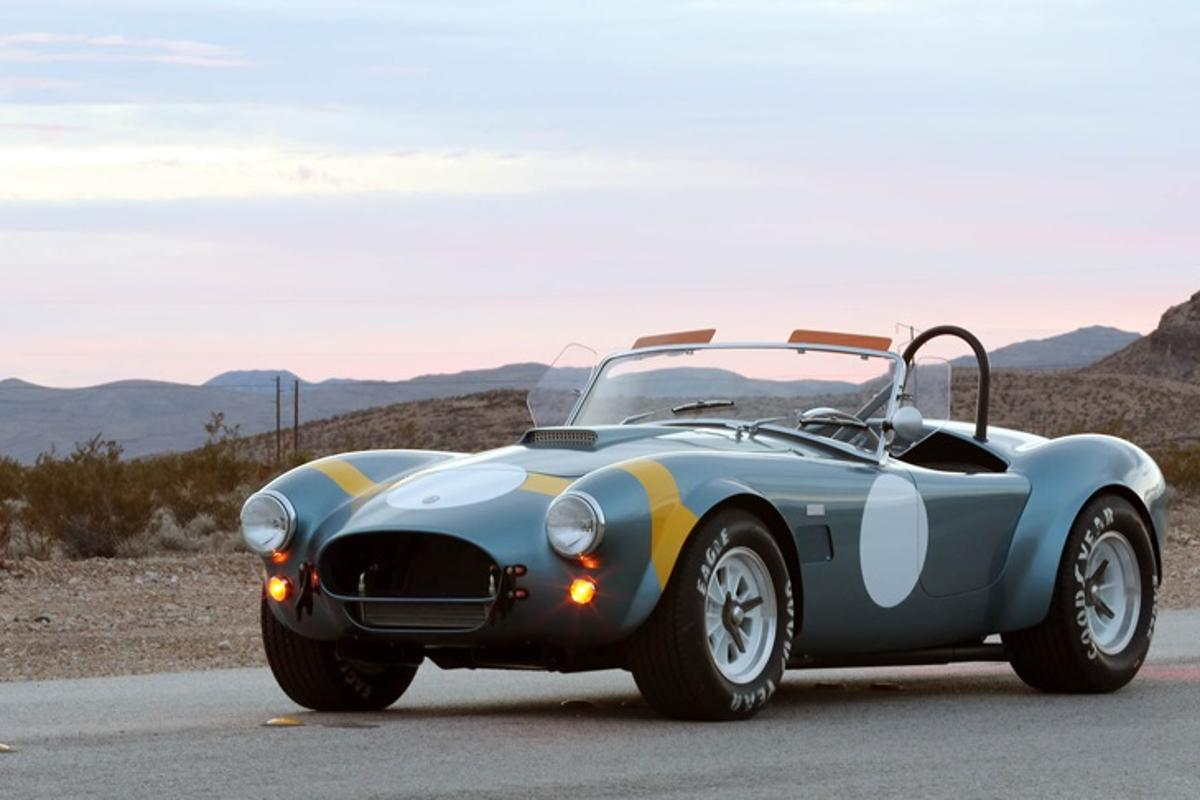 The 50th Anniversary Cobra includes styling reminiscent of the original 1964 race car