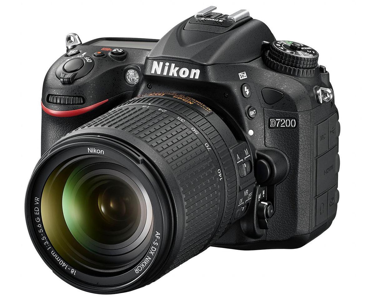 The Nikon D7200 uses a 24.2-megapixel DX-format APS-C (23.6 x 15.6 mm) CMOS sensor with no optical low-pass filter