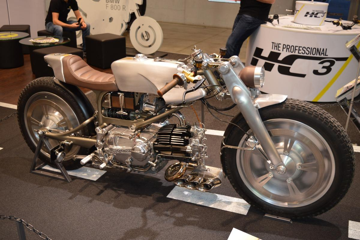 The exhaust system of the Rondine is undoubtedly a piece of art