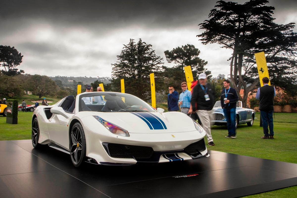 The all new 488 Pista Spider on show at Pebble Beach