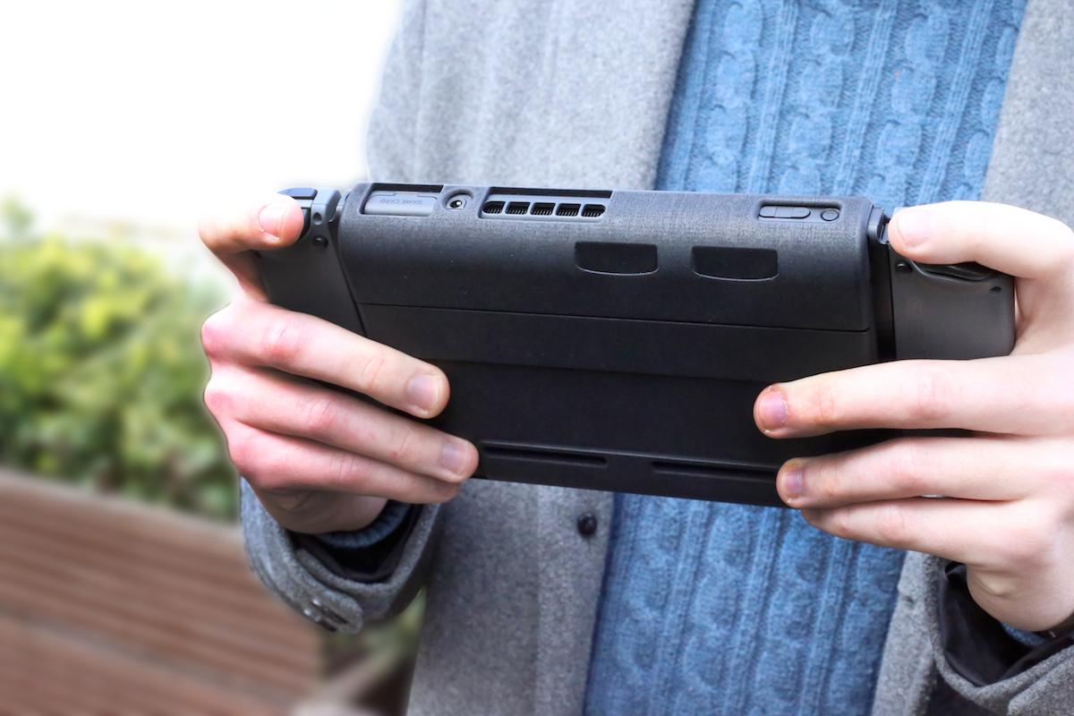 The SwitchCharge wraps around the console to boost its battery life with a 12,000 mAh battery