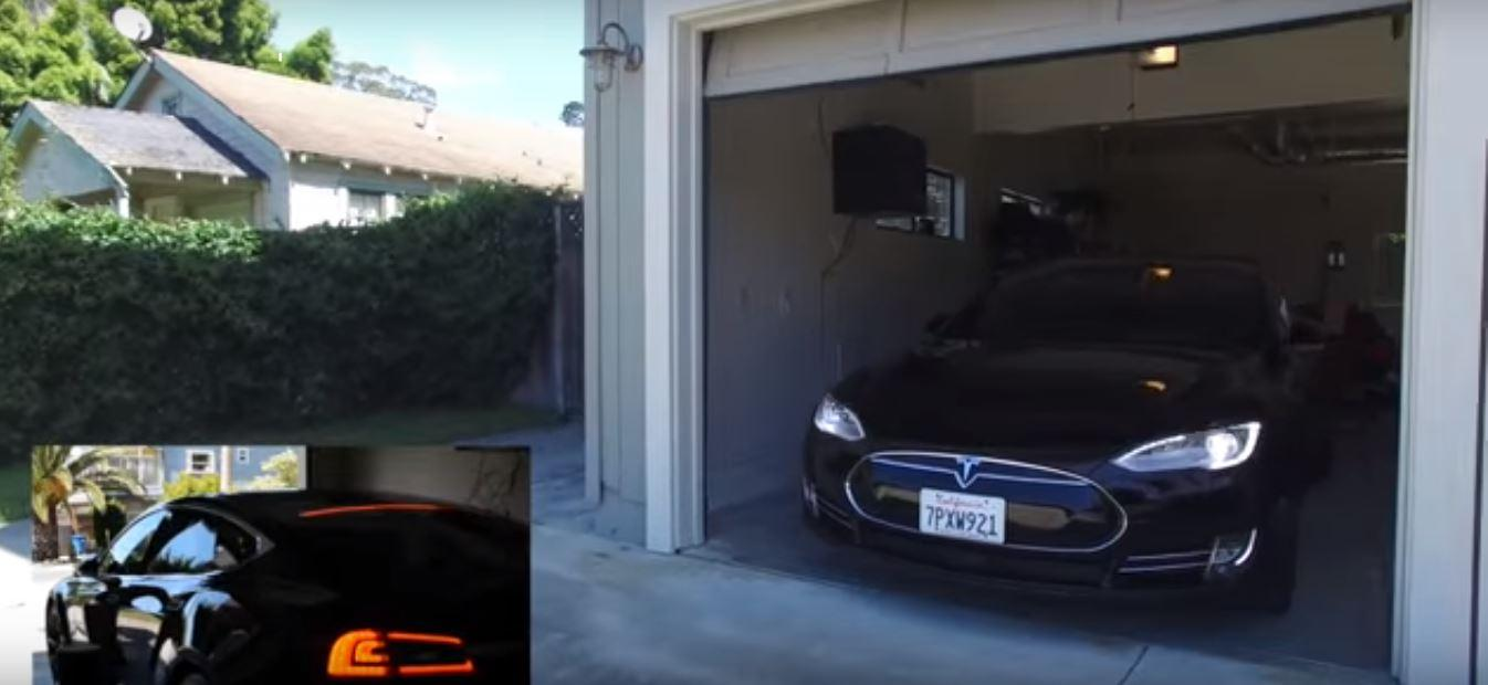Amazon passes on the command to roll out of the garage to the Tesla