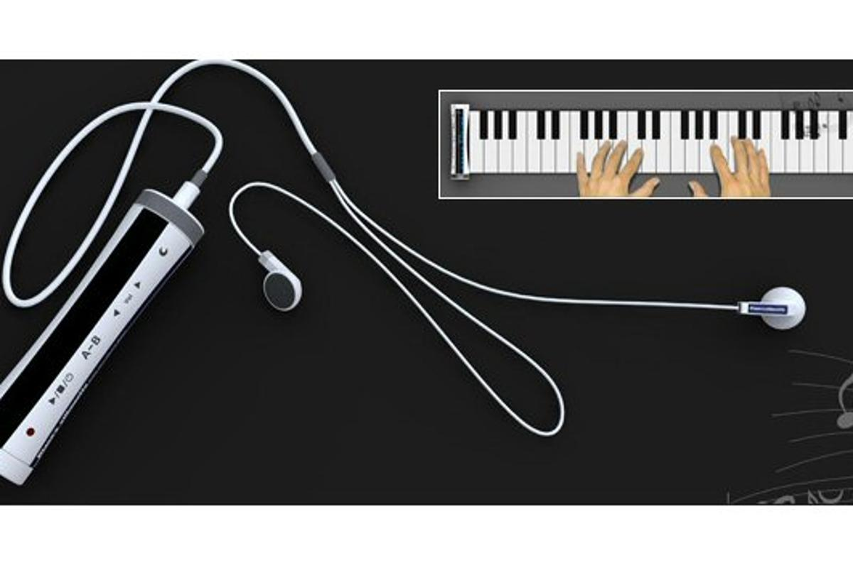 Designer Jia Peng has proposed a roll-out, 48-key piano keyboard be incorporated into his Piano's Silhouette MP3 player