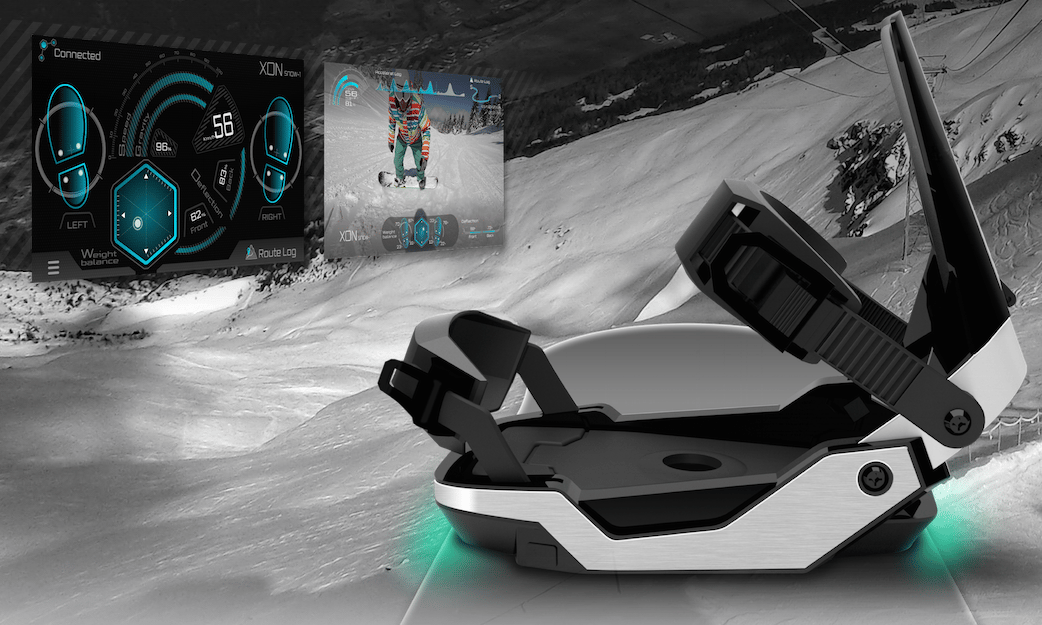 XON Snow-1 snowboard bindings provide users with feedback on their performance