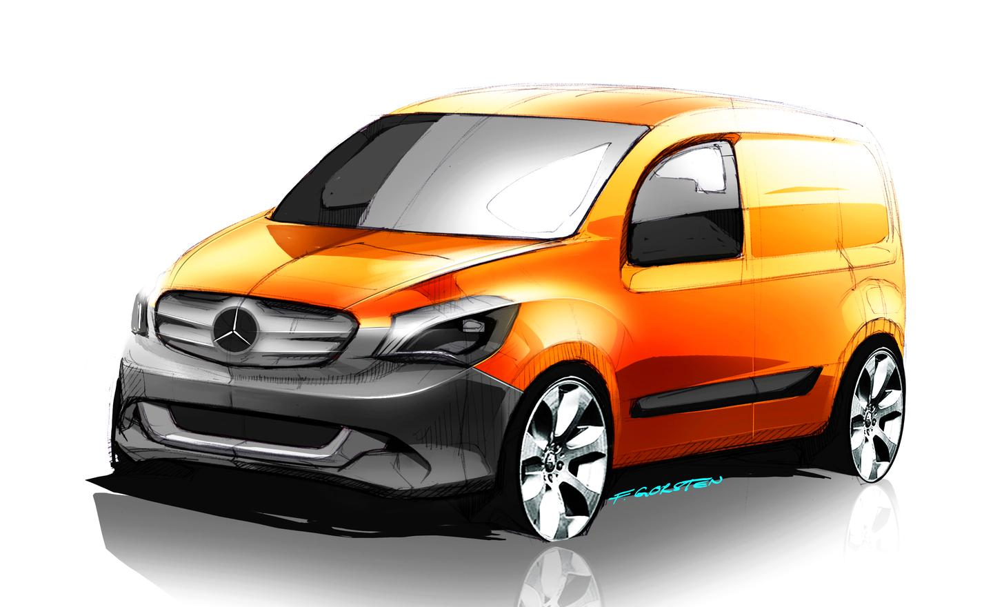 The Mercedes Benz Citan will be available as an electric vehicle