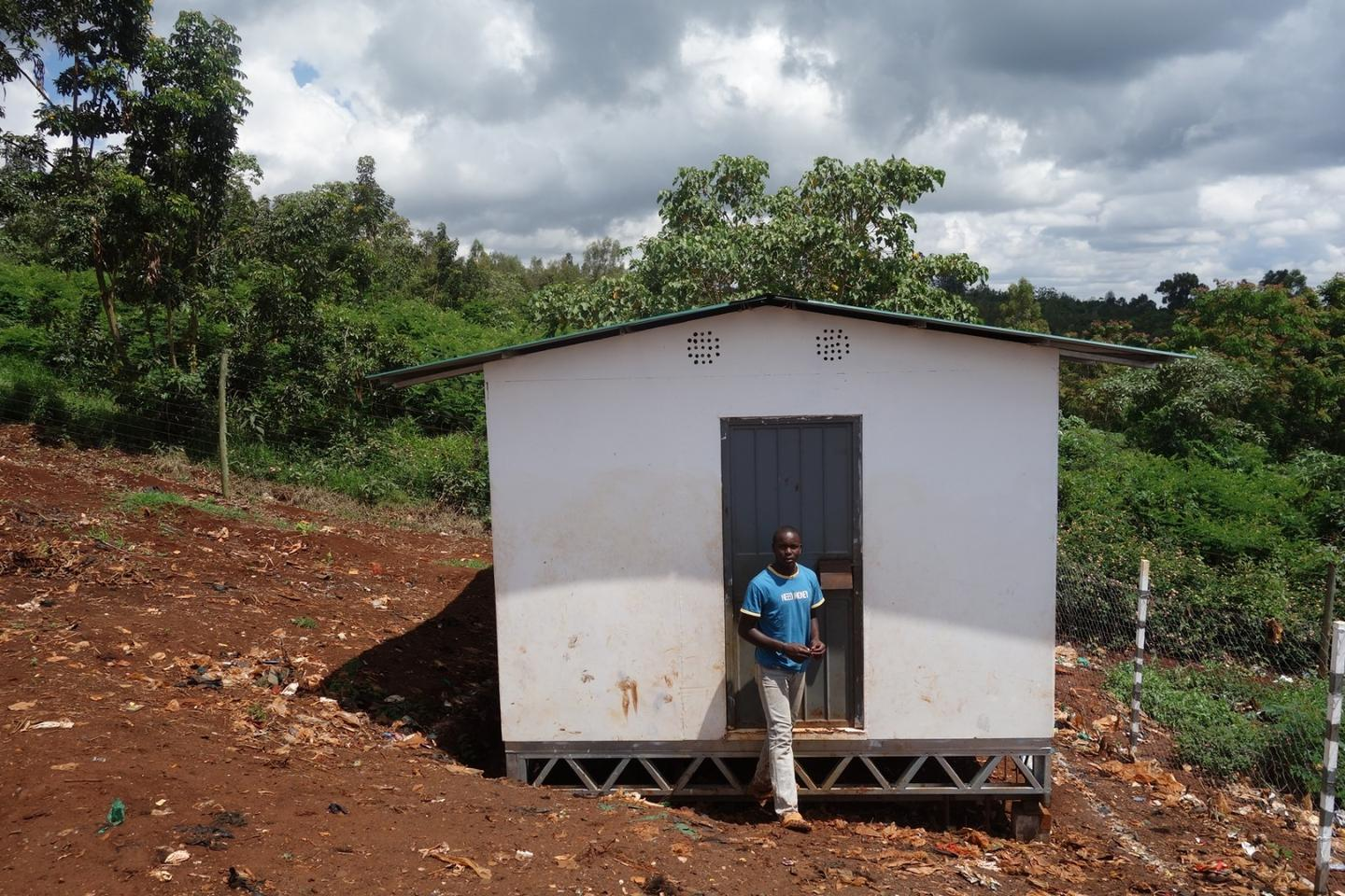 Aleutia's Solar Classroom in a Box comes flat-packed and can be assembled in two days by local laborers