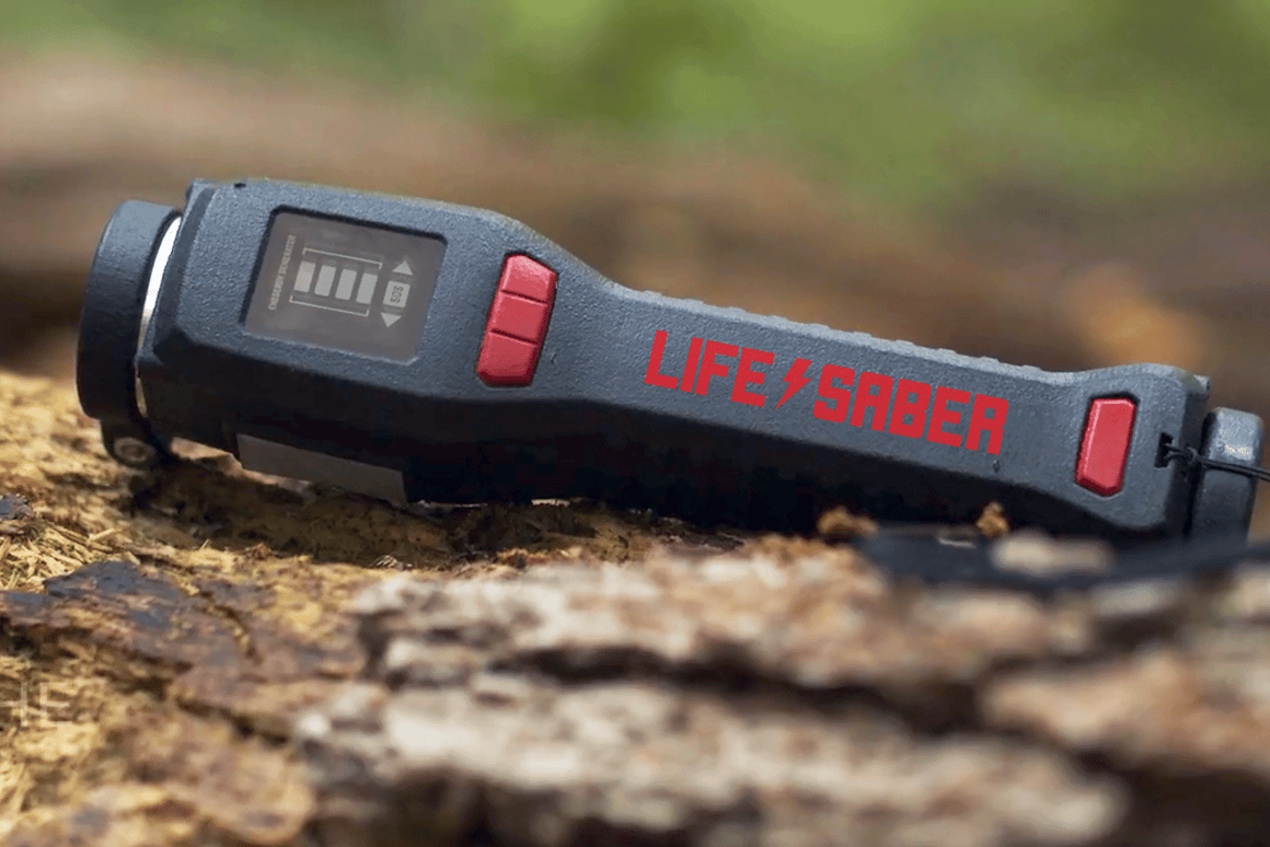 The Lifesaber is a versatile tool for the outdoors that is, first and foremost, a portable generator for producing power anywhere, anytime