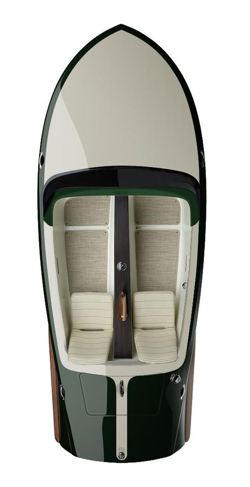 The Lugano boasts a color palette inspired by classic cars
