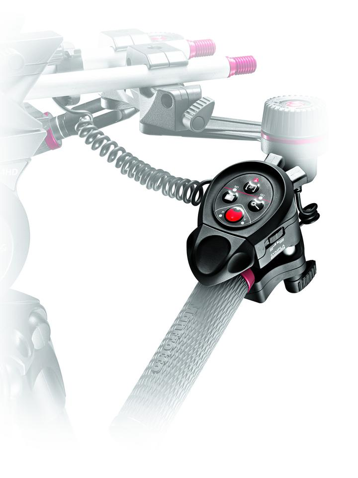 One of the two Manfrotto SYMPLA remote control units