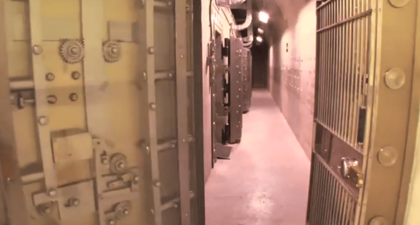 The corridor leading to the nuclear storage areas