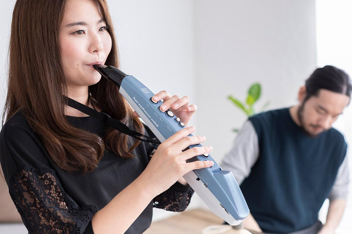 The digital wind instrument isn't just for learners, it can be connected to DAW software over Bluetooth MIDI or adjusted for pros playing in a band