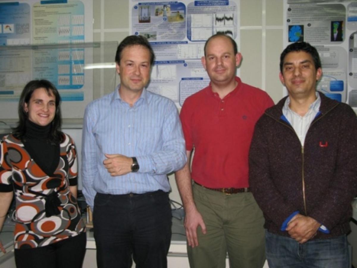 Research team (left to right): Estibalitz Asua, Victor Etxebarria, Jorge Feuchtwanger and Alfredo García.Irati Kortabitarte