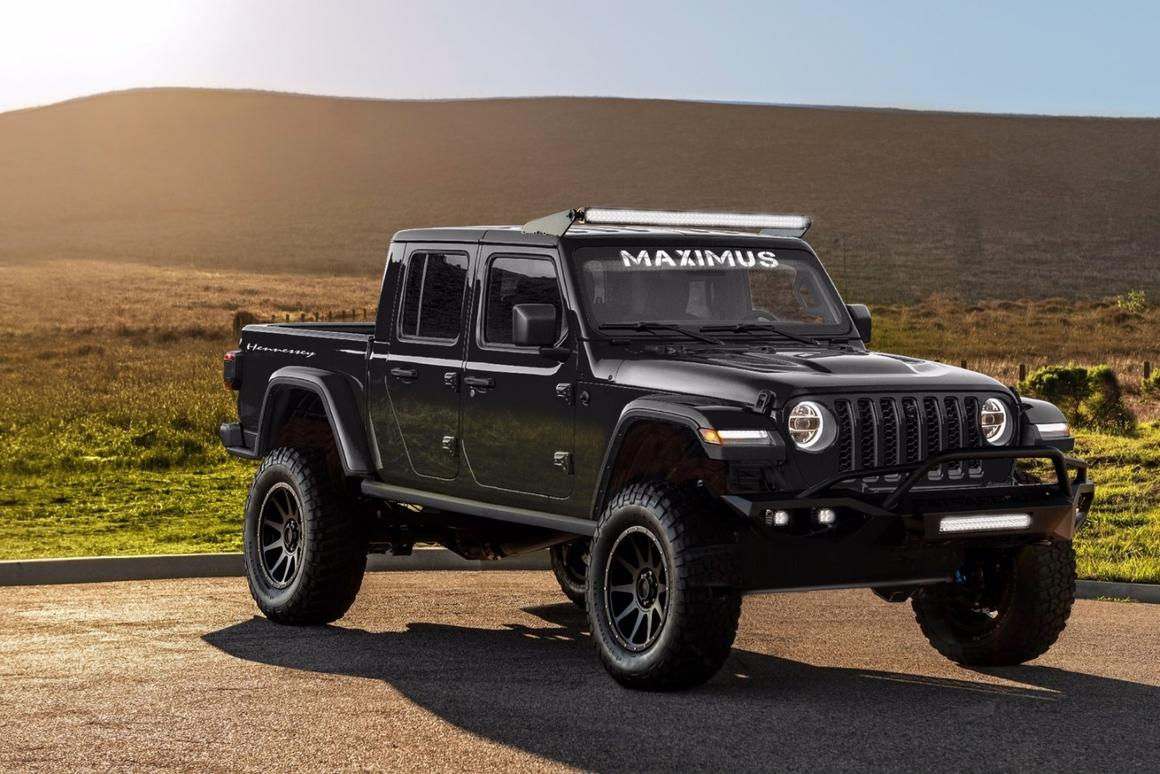 "Taking a 2020 Jeep Gladiator as the latest project, Hennessey is calling it the Hennessey Maximus 1000, or ""Badassery on 4-wheels"" for short"