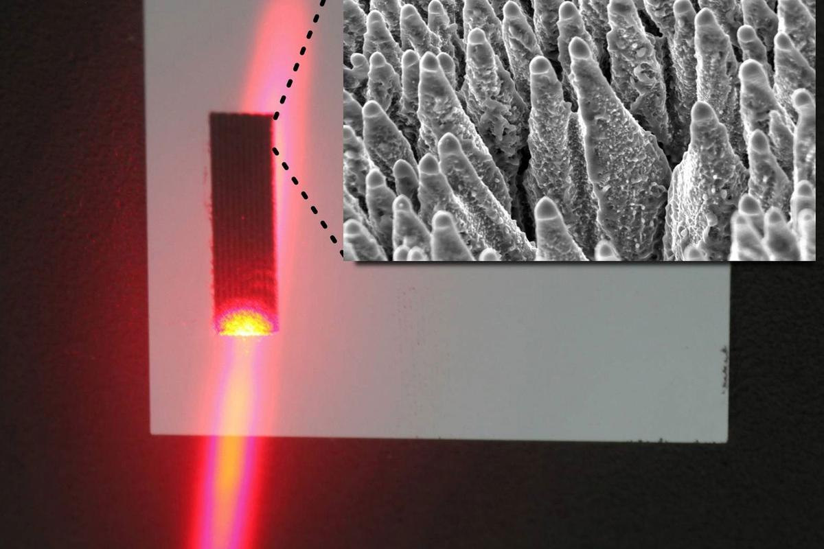 Dark silicon could improve efficiency in traditional solar cells by harvesting energy in the infrared spectrum (Image: Fraunhofer HHI)