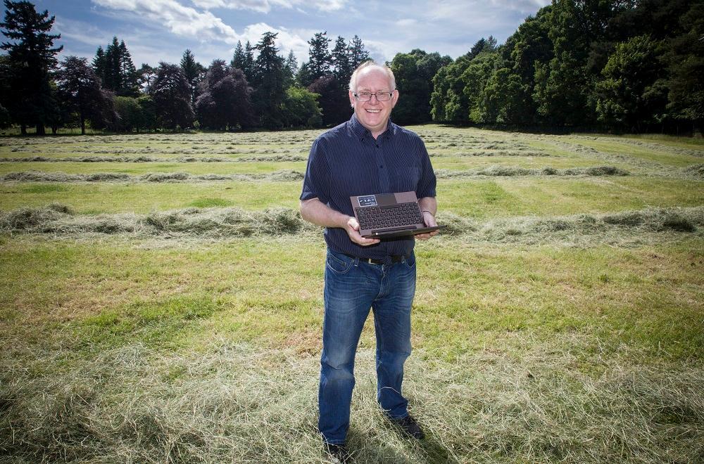Professor Vince Gaffney standing in Warren Field, the site of the world's oldest known calendar