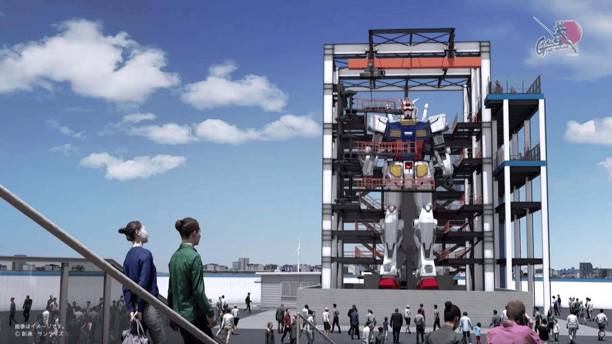An 18-meter (60-ft) walking Gundam robot will be unveiled in Yokohama this October