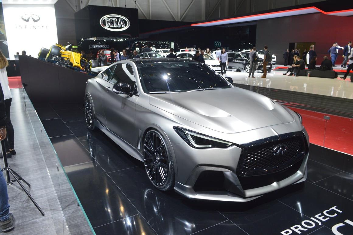 The Infiniti Q60Project BlackSmight be matte black, but it certainly isn't flying under the radar