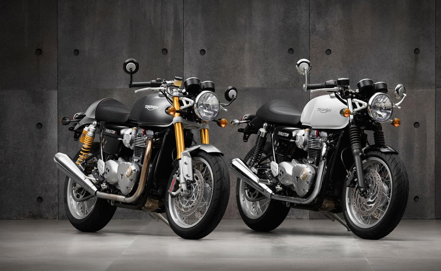 The Thruxton is named after the 500-mile endurance race series that Triumph once dominated with the same motorcycle that broke the 100 mph lap record at the Isle of Man