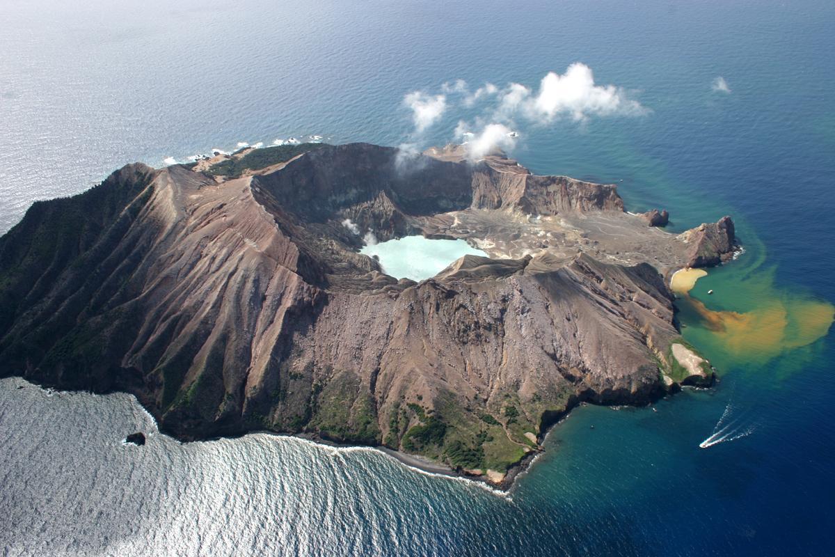 New Zealand's White Island volcano