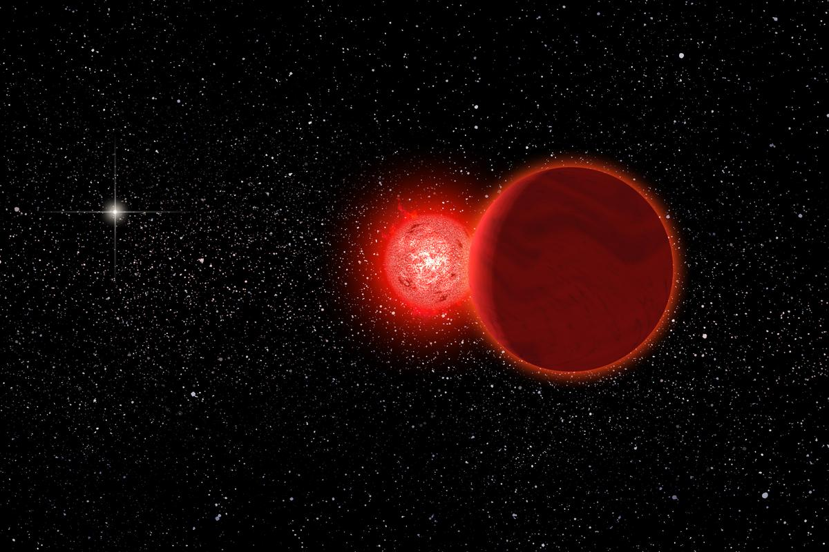 Artist's impression of Schulz's Star (Image: Michael Osadciw/University of Rochester)