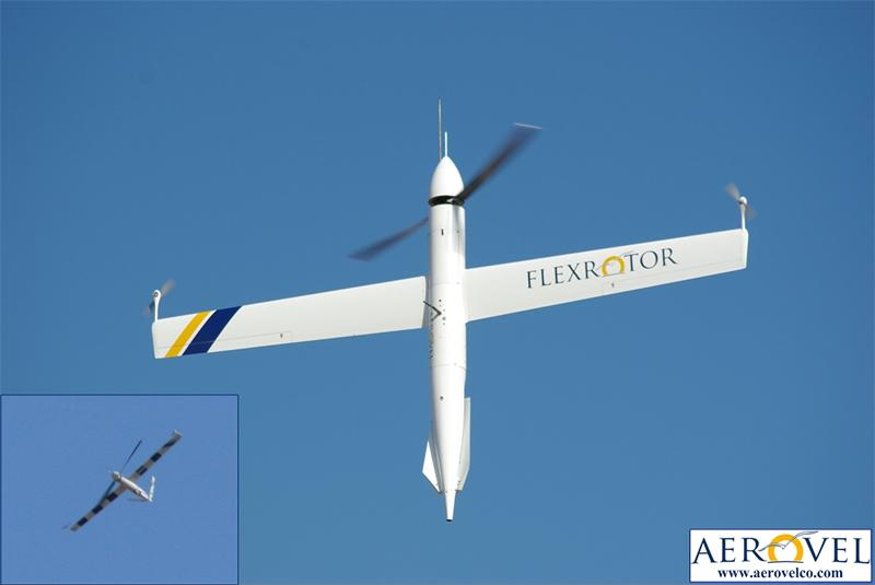 The Flexrotor transitions from vertical to horizontal flight be pitching over and going into a dove before leveling out